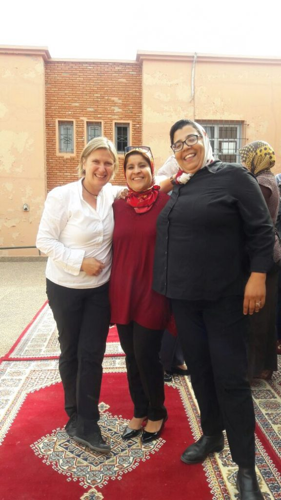 From left to right: Dr Bettina Utz, Mrs Touria Lekhal and Dr. Bouchra Assarag (Training facilitators)